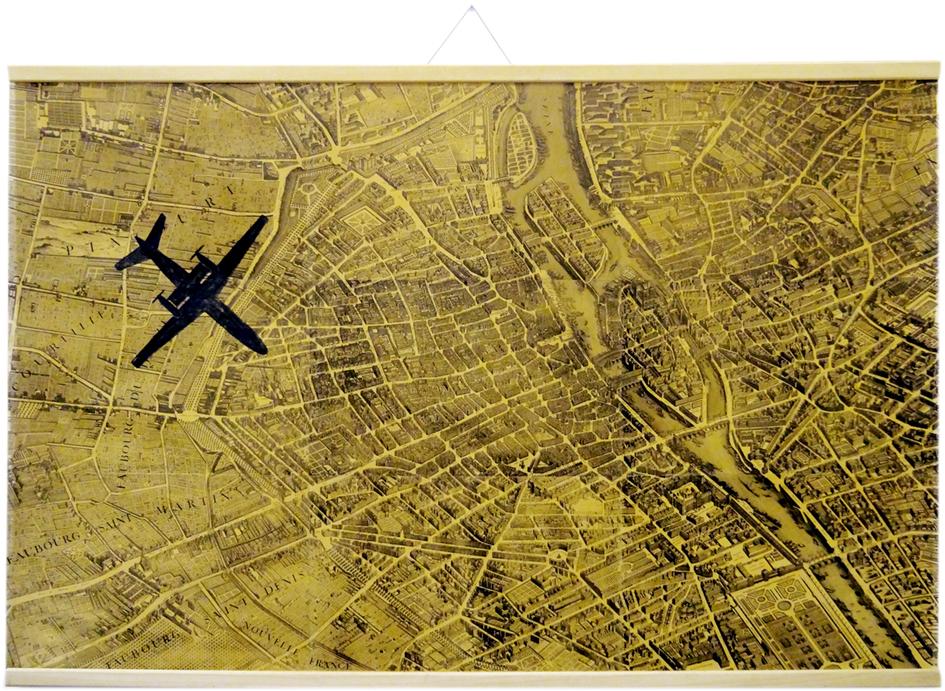 Aquarelle/Plan, 240 x 150 cm.